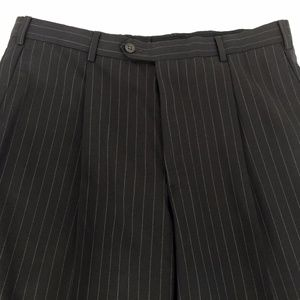 Armani Collezioni Pleat Front Wool Dress Pants